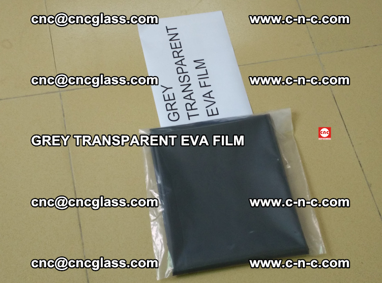 GREY TRANSPARENT EVA FILM for safety decorative laminated glass glazing (50)