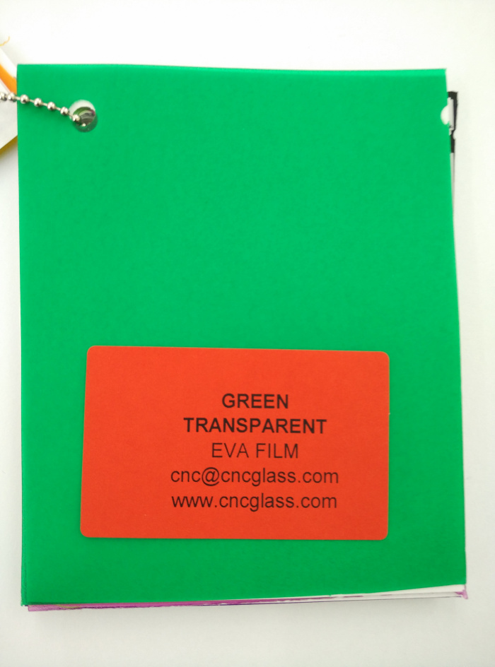 Green EVAVISION transparent EVA interlayer film for laminated safety glass (13)