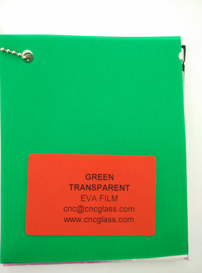 Green EVAVISION transparent EVA interlayer film for laminated safety glass (14)