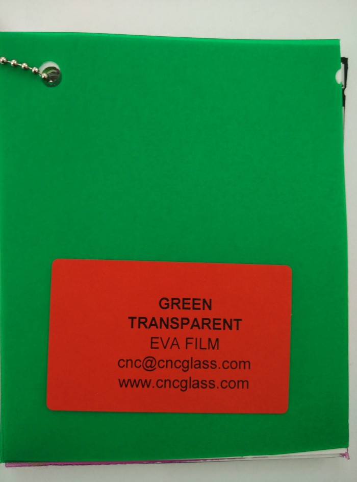 Green EVAVISION transparent EVA interlayer film for laminated safety glass (17)